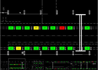 Line Sign Plant Floor Layout