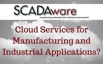 Cloud Services for Manufacturing and Industrial Applications?